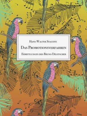 cover image of Das Promotionsverfahren