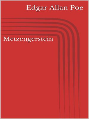 cover image of Metzengerstein