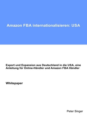 cover image of Amazon FBA internationalisieren--USA