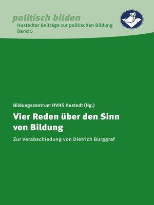 cover image of Vier Reden über den Sinn von Bildung