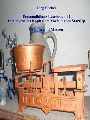 cover image of Personalbilanz Lesebogen 42 Intellektuelles Kapital im Vorfeld vom StartUp