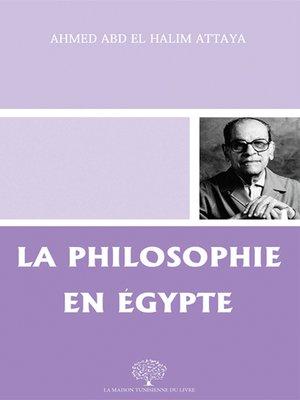 cover image of La Philosophie en Égypte
