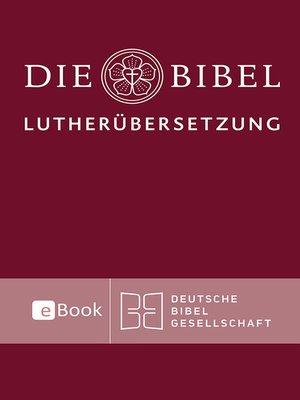 cover image of Lutherbibel revidiert 2017--Die eBook-Ausgabe