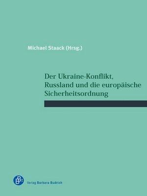 cover image of Der Ukraine-Konflikt, Russland und die europäische Sicherheitsordnung