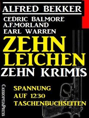 cover image of Zehn Leichen
