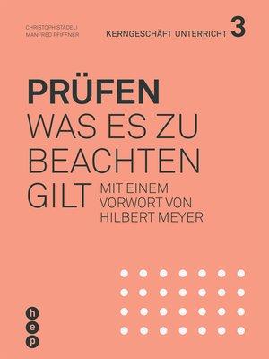 cover image of Prüfen (E-Book)