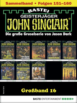cover image of John Sinclair Großband 16--Horror-Serie
