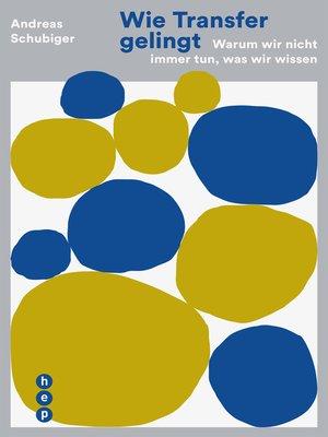 cover image of Wie Transfer gelingt (E-Book)