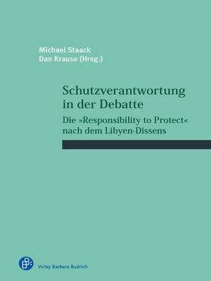 cover image of Schutzverantwortung in der Debatte
