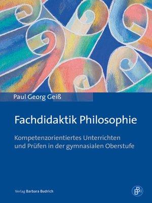 cover image of Fachdidaktik Philosophie