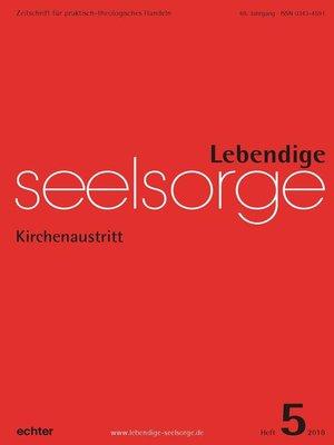 cover image of Lebendige Seelsorge 5/2018