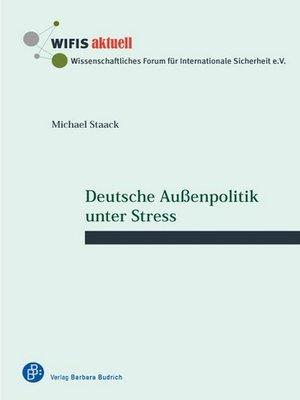 cover image of Deutsche Außenpolitik unter Stress
