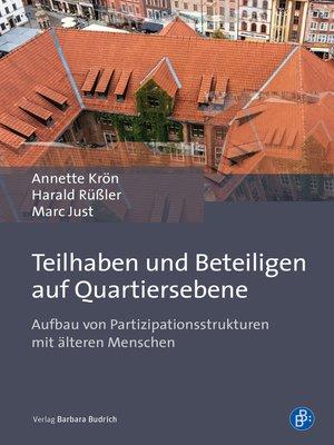 cover image of Teilhaben und Beteiligen auf Quartiersebene