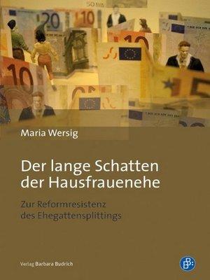cover image of Der lange Schatten der Hausfrauenehe