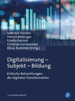 cover image of Digitalisierung--Subjekt--Bildung