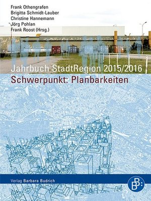 cover image of Jahrbuch StadtRegion 2015/2016 Planbarkeiten