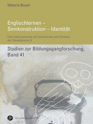 cover image of Englischlernen--Sinnkonstruktion--Identität