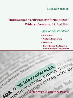 cover image of Handwerker Verbraucherinformation/Widerrufsrecht ab 13. Juni 2014