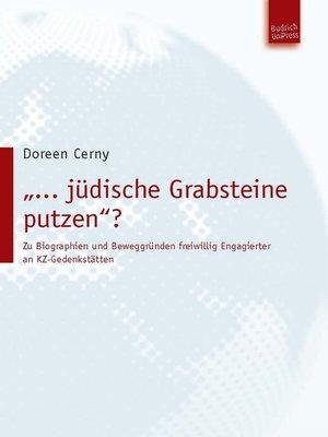 """cover image of """"... jüdische Grabsteine putzen""""?"""