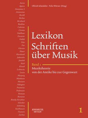 cover image of Lexikon Schriften über Musik