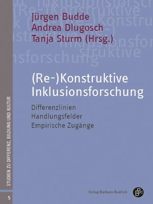 cover image of (Re-)Konstruktive Inklusionsforschung