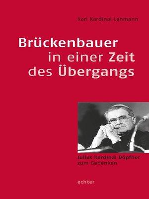 cover image of Brückenbauer in einer Zeit des Übergangs