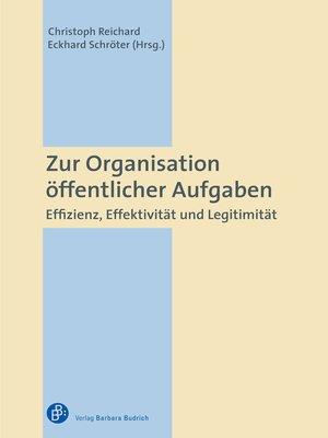 cover image of Zur Organisation öffentlicher Aufgaben