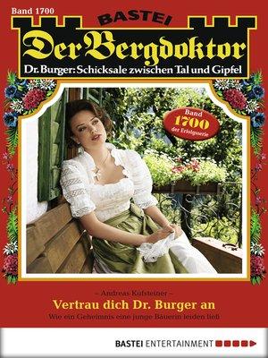 cover image of Der Bergdoktor--Folge 1700