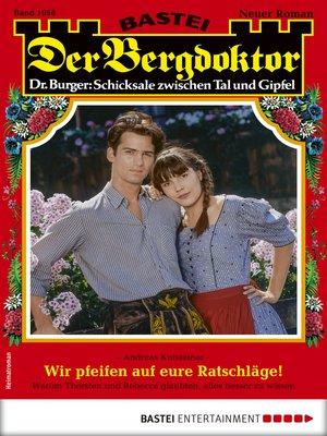 cover image of Der Bergdoktor 1956--Heimatroman
