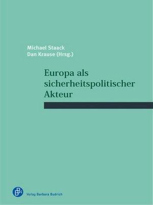cover image of Europa als sicherheitspolitischer Akteur