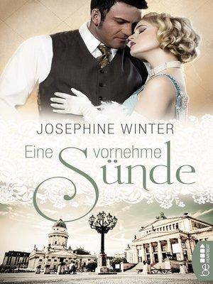 cover image of Eine vornehme Sünde