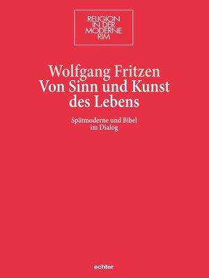 cover image of Von Sinn und Kunst des Lebens