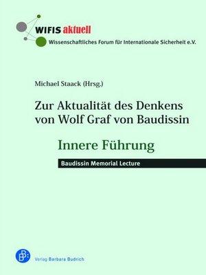 cover image of Zur Aktualität des Denkens von Wolf Graf von Baudissin