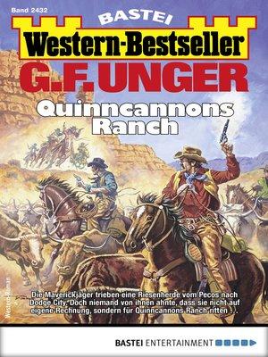 cover image of G. F. Unger Western-Bestseller 2432--Western