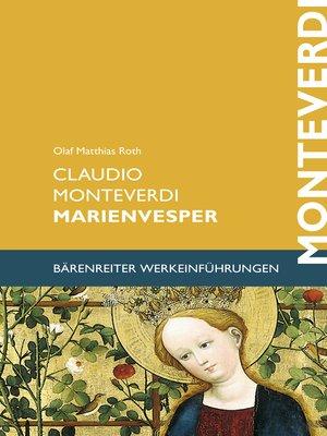 cover image of Claudio Monteverdi. Marienvesper