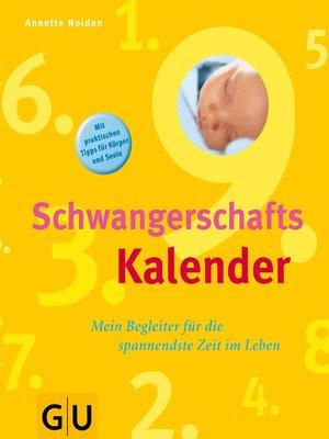 cover image of Schwangerschaftskalender