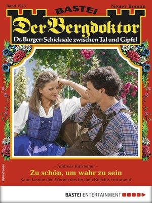 cover image of Der Bergdoktor 1923--Heimatroman