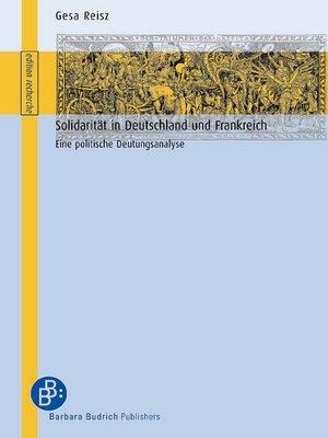 cover image of Solidarität in Deutschland und Frankreich