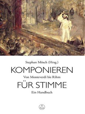 cover image of Komponieren für Stimme