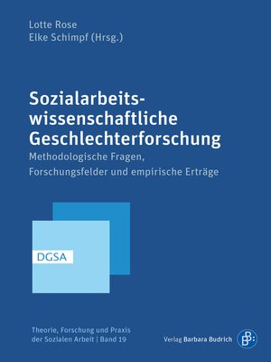 cover image of Sozialarbeitswissenschaftliche Geschlechterforschung