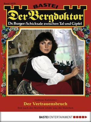 cover image of Der Bergdoktor--Folge 1679