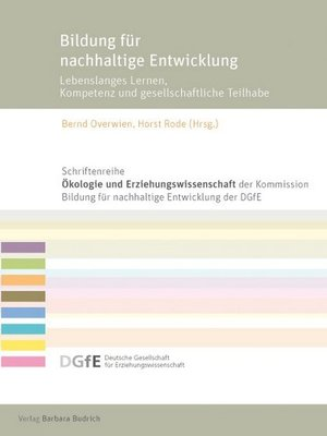 cover image of Bildung für nachhaltige Entwicklung