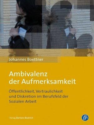 cover image of Ambivalenz der Aufmerksamkeit