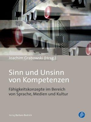 cover image of Sinn und Unsinn von Kompetenzen
