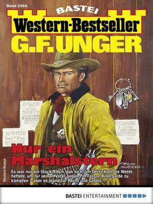 cover image of G. F. Unger Western-Bestseller 2368--Western