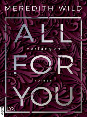 cover image of All for You--Verlangen