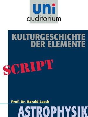 cover image of Kulturgeschichte der Elemente