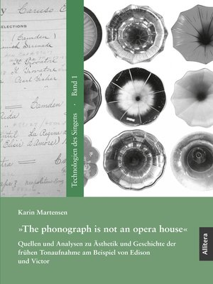 cover image of »The phonograph is not an opera house«