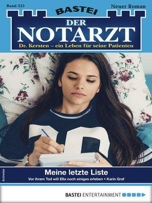 cover image of Der Notarzt 325--Arztroman