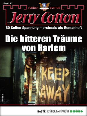 cover image of Jerry Cotton Sonder-Edition 77--Krimi-Serie